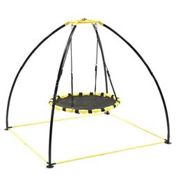 Jumpking JKBK-UFO Backyard 360 Degree Adjustable Height UFO Swing Set, Yellow   Target