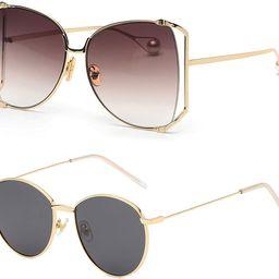 Oversized Semi Rimless Sunglasses For Women | Amazon (US)