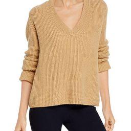 Shaker Rib V Neck Cashmere Sweater   Bloomingdale's (US)
