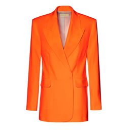 Blair Neon Orange Blazer (L) by Aggi   Wolf and Badger (Global excl. US)