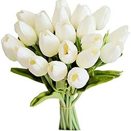 Mandy's 20pcs Artificial Latex Tulips for Party Home Wedding Decoration | Amazon (US)