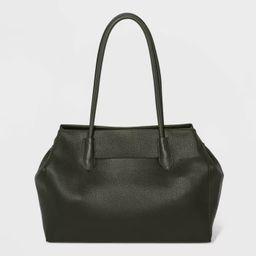 Magnetic Closure Tote Handbag - A New Day™ Green   Target