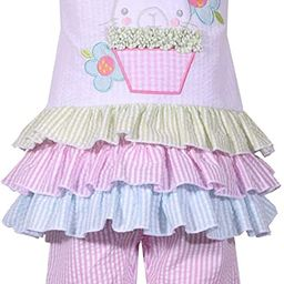 Girl's Easter Outfit Bunny Seersucker Top and Leggings Set for Baby and Toddler | Amazon (US)