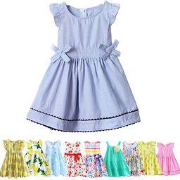 Girl Cotton Breathable Mesh Sleeveless Summer Tutu Daily Wear Princess Dress | Amazon (US)