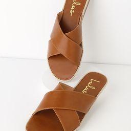 Koren Tan Espadrille Slide Sandals | Lulus (US)
