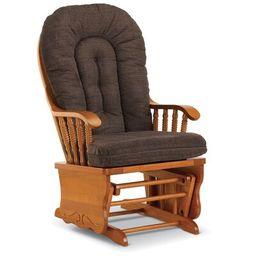 Amaral Wooden Rocking Chair Loon Peak® Body Fabric: Linen Blue-24697C | Wayfair North America