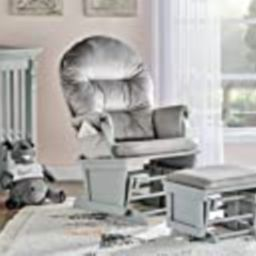 Suite Bebe Madison Glider Rocker and Ottoman, Grey and Light Grey | Amazon (US)