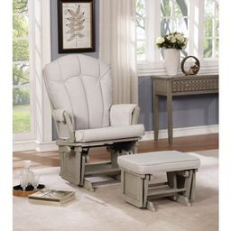 Vara Multiposition Glider & Ottoman Set by Naomi Home-Cushion Color:Gray,Finish:Gray | Walmart (US)
