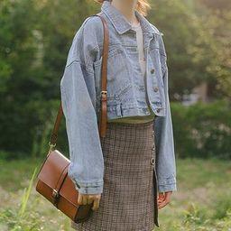 Denim Crop Jacket | YesStyle Global