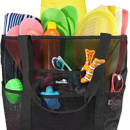 Dejaroo Mesh Beach Bag – Toy Tote Bag – Large Lightweight Market, Grocery & Picnic Tote with ... | Amazon (US)