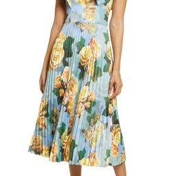 Floral Pleated Cocktail Dress | Nordstrom
