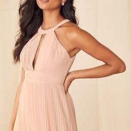 Ode to Romance Rose Pleated Sleeveless Maxi Dress | Lulus (US)