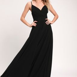 All About Love Black Maxi Dress | Lulus (US)