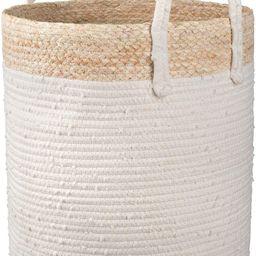 LA JOLIE MUSE Woven Basket Rope Storage Basket - Large Cotton Organizer 16 x 14 x 14 Inches, Natu...   Amazon (US)