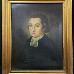 Antique 19th c. Oil Painting on Canvas of A Pastor / Minister   eBay US