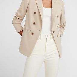 Double Breasted Knit Blazer | Express