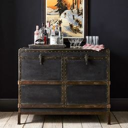 """Ludlow 44.5"""" Trunk Bar Cabinet   Pottery Barn (US)"""