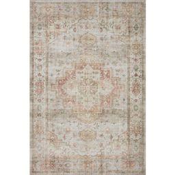 "Alexander Home Meghan Vintage Traditional Distressed Area Rug - 8'-6"" x 11'-6"" - Sage / Multi | Overstock"