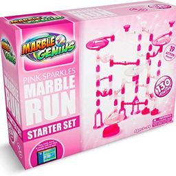 Marble Genius Marble Run Pink Sparkles Starter Set - 130 Complete Pieces + Free Instruction App (... | Amazon (US)