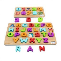 Chuckle & Roar 2pk Wood Puzzles – ABC's & 123s – 36pc | Target