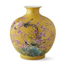 Yellow Hummingbird Ginger Jar Pom Vase   Williams-Sonoma