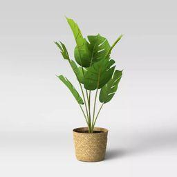 Faux Monstera in Basket Pot Brown/Green - Opalhouse™   Target