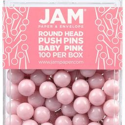 JAM PAPER Colorful Push Pins - Round Head Map Thumb Tacks - Baby Pink Pushpins - 100/Pack   Amazon (CA)