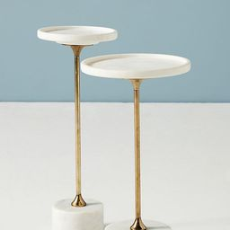 Swirling Marble End Table | Anthropologie (US)