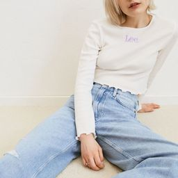 Slouch Straight High Jeans | H&M (US)
