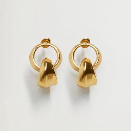 Hoop pendant earrings | MANGO (US)