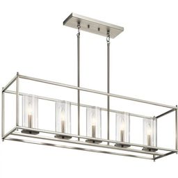 Veronica Contemporary 5-Light Chandelier with Clear Glass Shades | Overstock