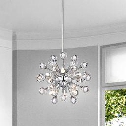 Clara Mini Pendant Modern 6-light Chrome Sputnik Clear Crystal Balls Chandelier | Overstock