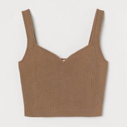 Sweetheart-neck Cropped Top   H&M (US)