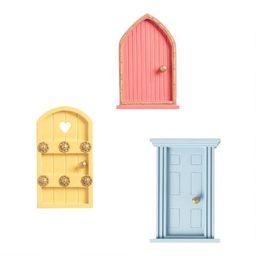Painted Wood Fairy Doors Set of 3 | World Market