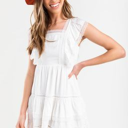 Suzette Tiered Eyelet Mini Dress | Francesca's Collections