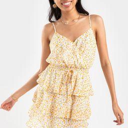 Ashlie Floral Tiered Mini Dress | Francesca's Collections