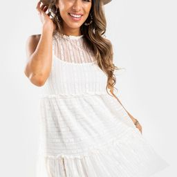Ollie Tiered Lace Mini Drees | Francesca's Collections
