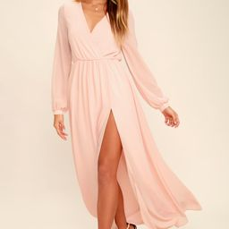 Wondrous Water Lilies Blush Pink Maxi Dress | Lulus (US)