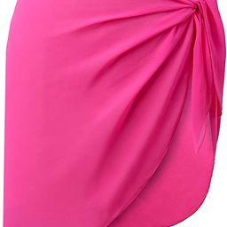 CARDYDONY Women's Swimsuit Cover Up Sarong Bikini Swimwear Beach Cover-Ups Wrap Skirt | Amazon (US)