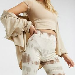 Noisy May ribbed legging shorts in beige tie dye - part of a set | ASOS (Global)