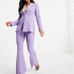 ASOS DESIGN Petite jersey single breasted suit in lilac | ASOS (Global)