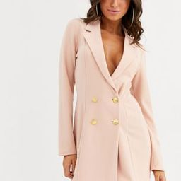 ASOS DESIGN glam double breasted jersey blazer | ASOS (Global)