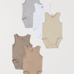 5-pack Sleeveless Bodysuits | H&M (US)