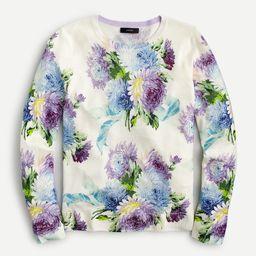 Margot crewneck sweater in vintage floral | J.Crew US