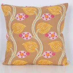 Flower Style Suzani Pillow Bohemian Decor Orange Pink Green | Etsy | Etsy (US)