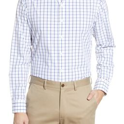Leeward Trim Fit Check Button-Up Performance Shirt | Nordstrom
