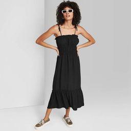 Women's Tie-Strap Ruffle Hem Woven Dress - Wild Fable™ | Target