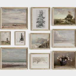 Vintage Farmhouse Gallery Wall Print SET | Neutral French Country Home Decor | PRINTABLE #231 | Etsy (US)