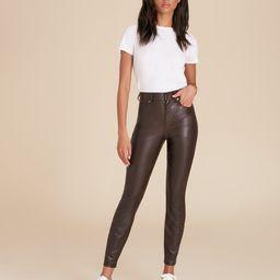 Debbie High-Rise Skinny Vegan Leather Jean | Veronica Beard