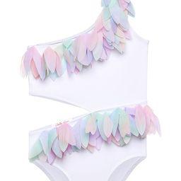 Kids' Multicolor Petal Side Cut Swimsuit   Nordstrom